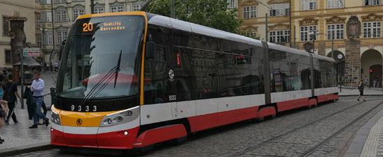 Přechodové skládací měchy pro tramvaje