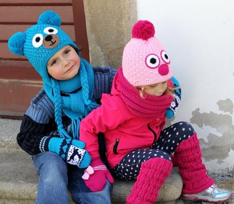 Dětské pletené čepice Pletex Šumperk