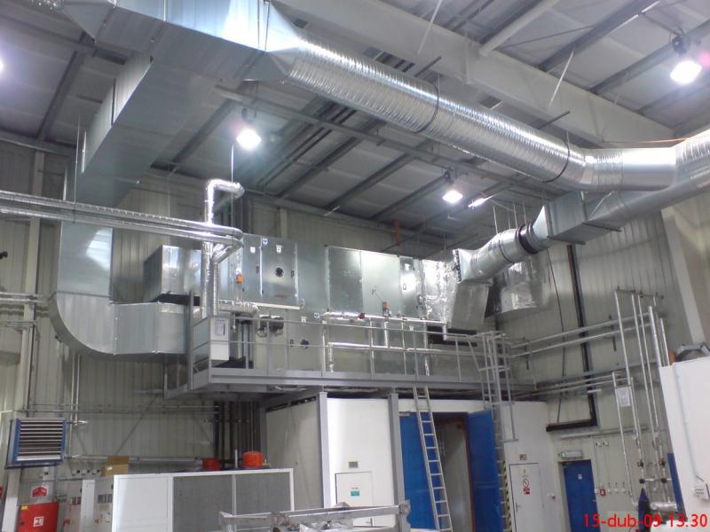 Výroba vzduchotechnických prvků, dodávky vzduchotechniky a klimatizace, Elektro, měření a regulace