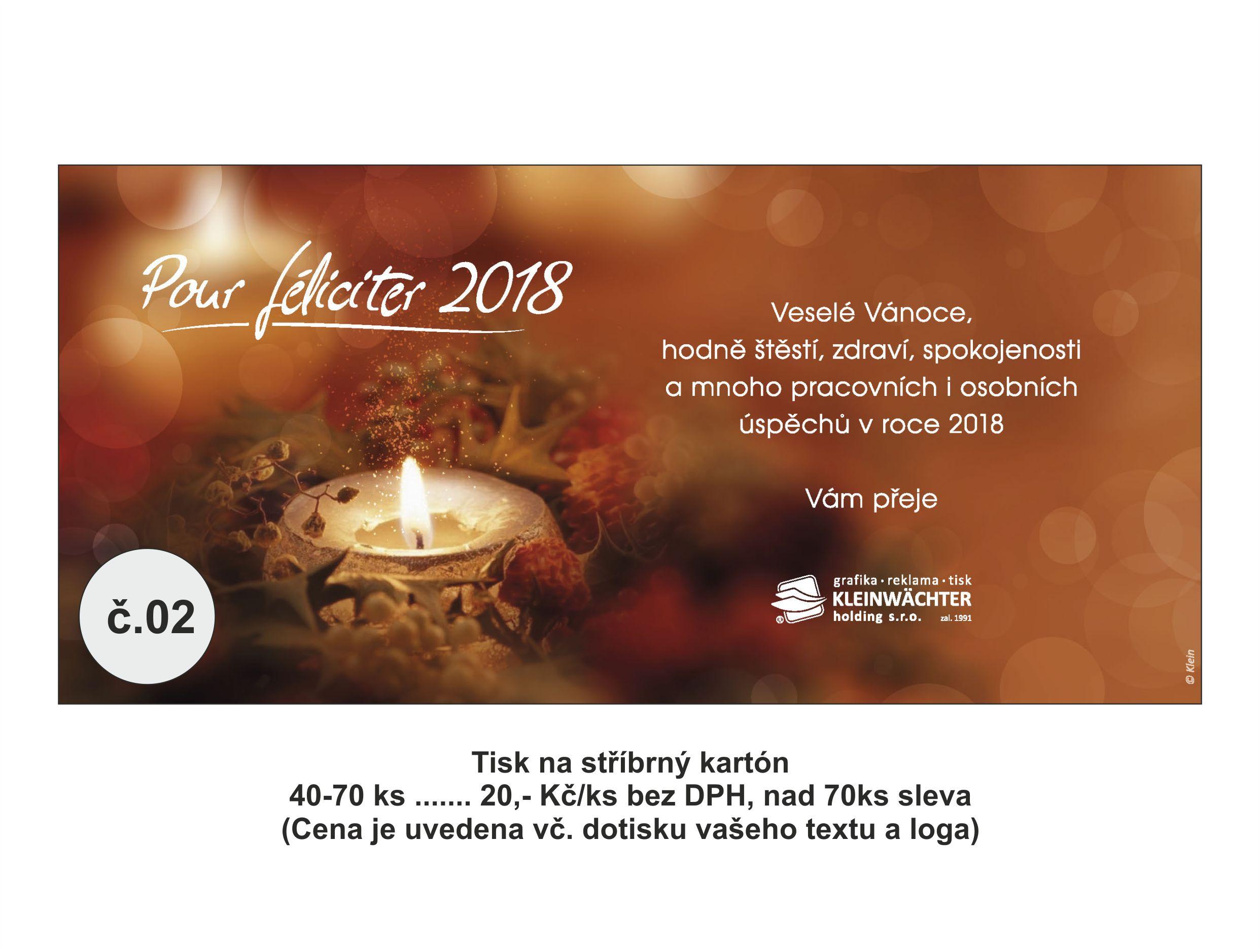 Grafický návrh a tisk vánočního přání Frýdek-Místek