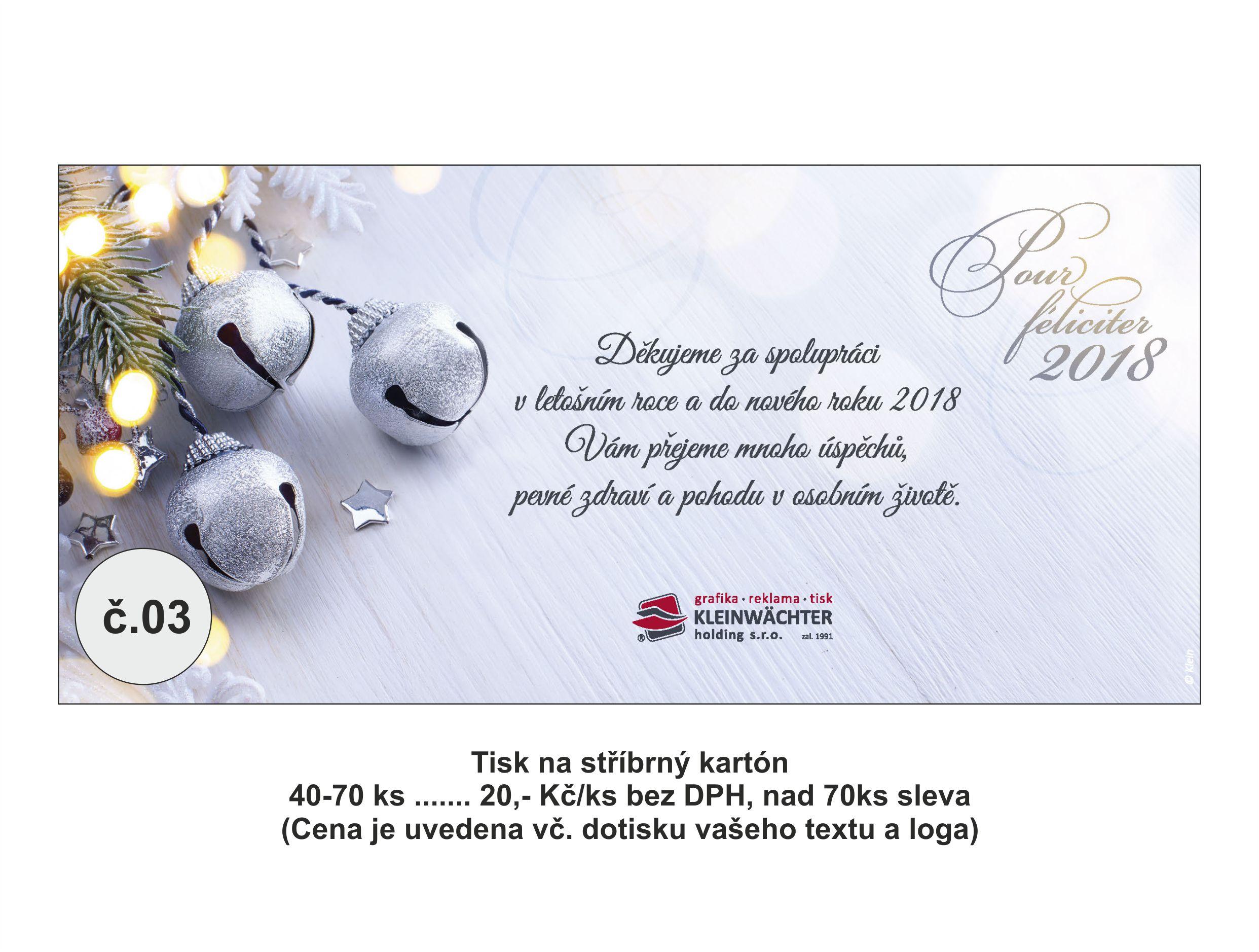 Výroba, tisk novoročního přání Frýdek-Místek
