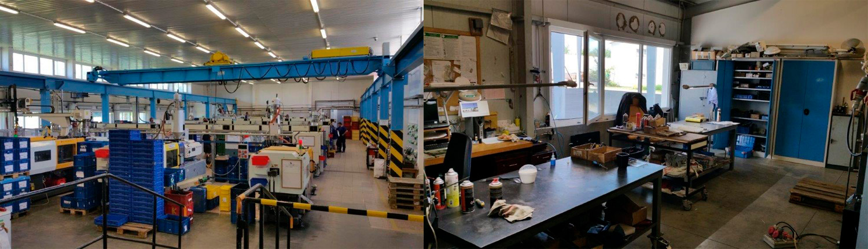Technické díly z plastů pro automobilový, elektrotechnický průmysl, sériová výroba