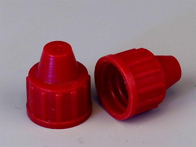 Plastové uzávěry na skleněné i plastové lahvičky
