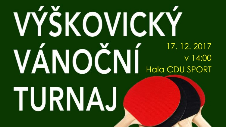 Výškovický vánoční turnaj ve stolním tenisu Ostrava