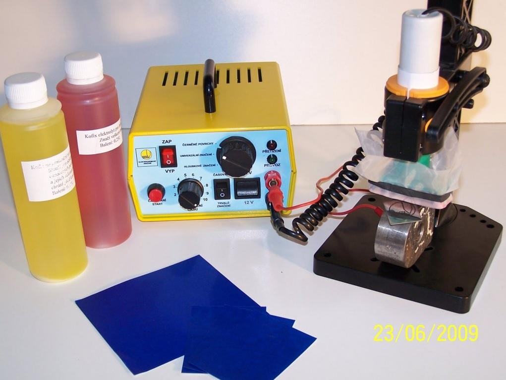 značící jednotka pro elektrochemické značení