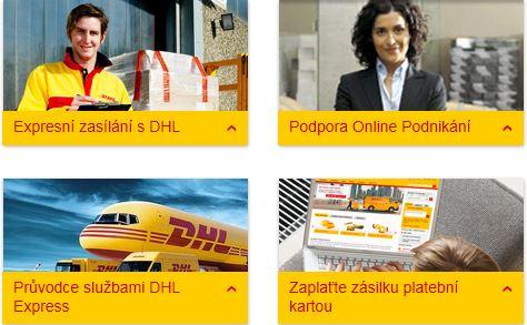 DHL Express CZ - expresní mezinárodní přeprava firemních balíků a dokumentů