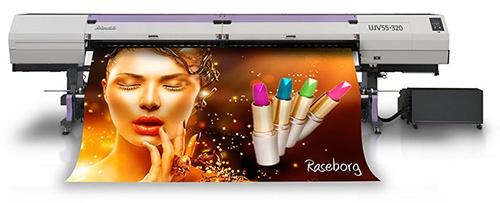 Revoluční velkoplošná inkoustová UV LED tiskárna Mimaki UJV55-320