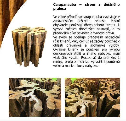 okrasné kmeny Carapanauba