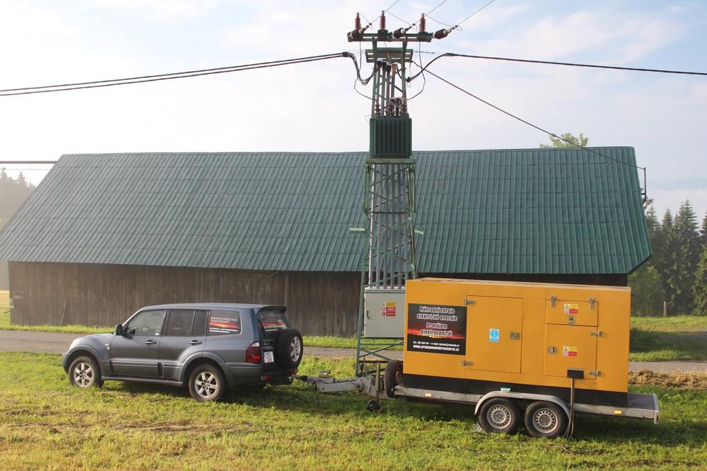 Pronájem náhradní zdroje elektrické energie Břeclav, Znojmo