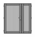 Prodej, dodávka dvoukřídlé palubkové dveře Ostrava