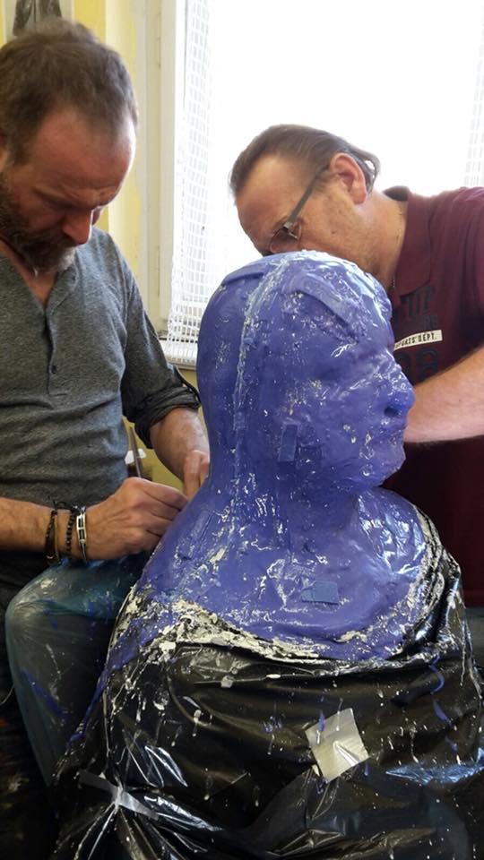 Výroba masky Shreka od profesionálního maskéra