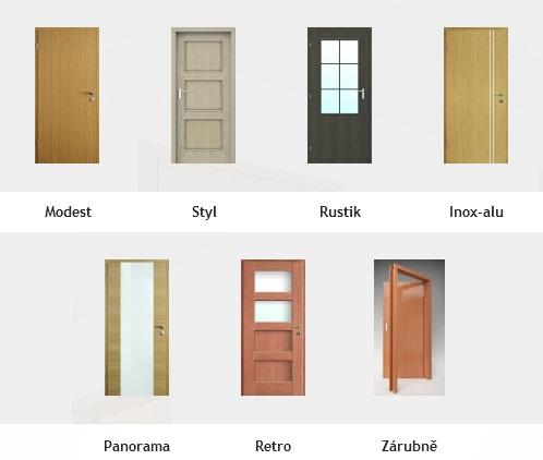 Interiérové dveře plné, kazetové, prosklené a obložkové zárubně - výroba, prodej