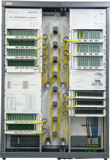 Velkokapacitní stojan pro optická vlákna a kabely OpteaStar 2+