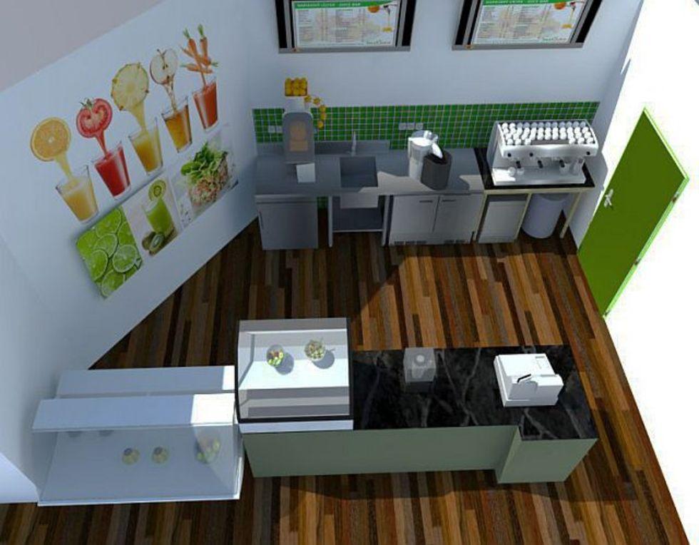 Realizace juice barů na klíč - 3D návrh baru