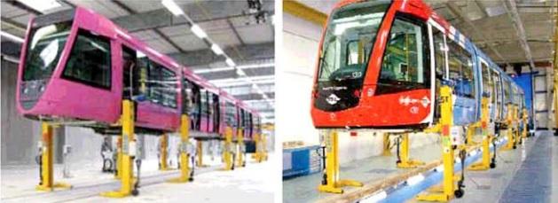 Zvedáky pro kolejové vozidla,metro, tramvaje, mobilní zvedací sloupy