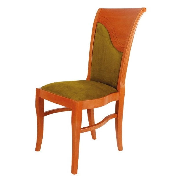 dřevěná jídelní židle Martina s čalouněným sedákem a opěradlem
