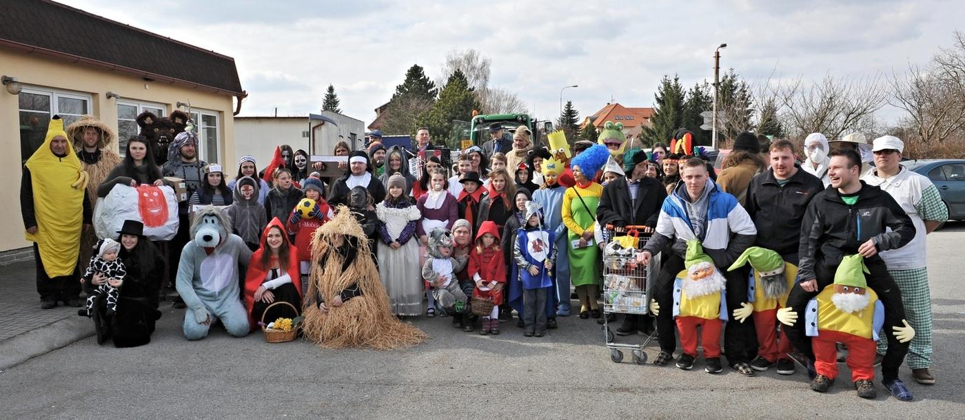 Jihočeská obec s tradičním folkórem