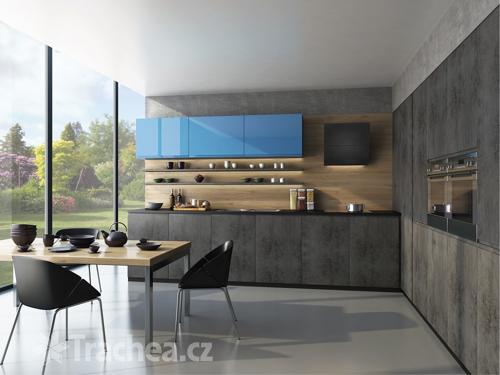 Furniture doors T.classic - new decors in imitation of concrete and wood decor Czech Republic