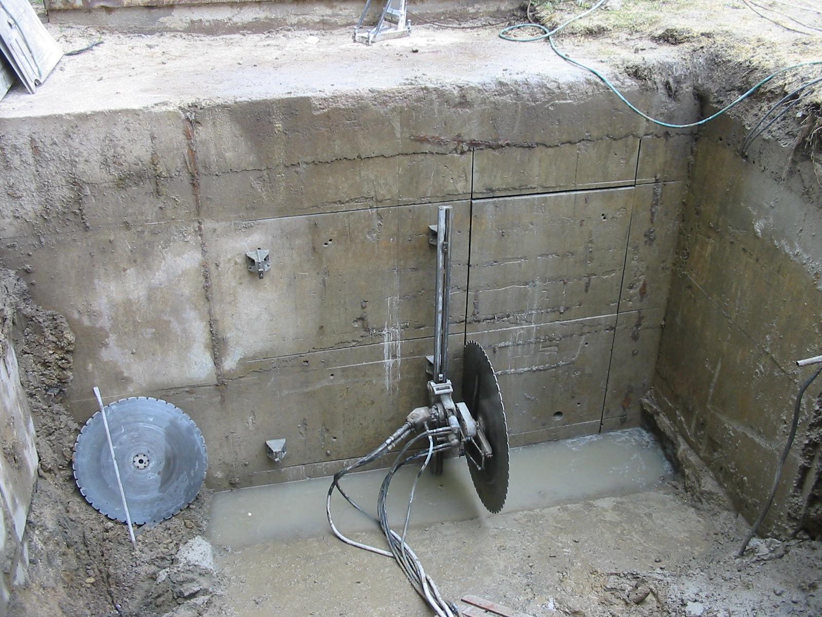 Vrtání a řezání betonu diamantovými nástroji