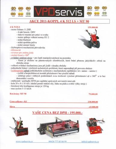 Jednonápravový nosič Köppl 4 K 512 LS + MT 90