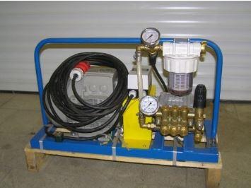 Testovací zařízení pro tlakové zkoušky do 250 barů a 1000 barů pro různá zařízení