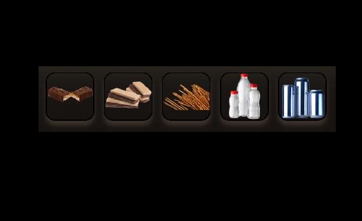 Široký výběr ve svačinovém automatu