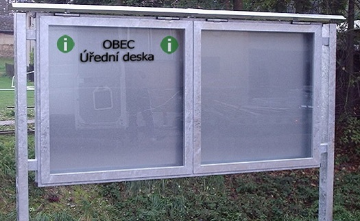 Prosklené informační vitríny pro města, obce Zábřeh, Šumperk