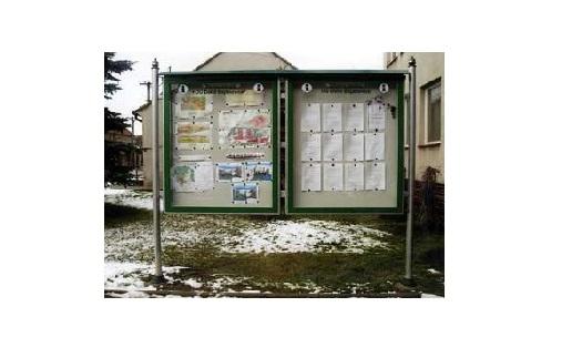 Informační vitríny pro města, obce Zábřeh, Šumperk