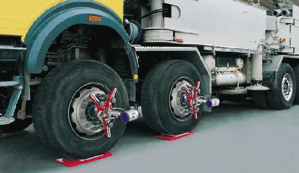 Prodej geometrie kol pro nákladní automobily značky Haweka