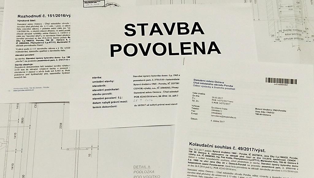 Projekt na domovní výtah Ostrava, Frýdek-Místek