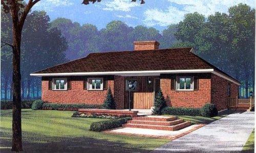 Dřevostavba s atraktivním výhledem ze zadní části domu