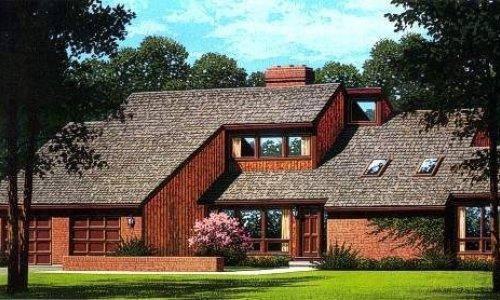 Dřevostavba pro bydlení na venkově nebo na předměstí