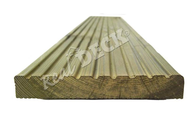 Terasová prkna, dřevěné terasy Real Deck dřevo z borovice