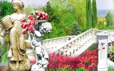 Zahradní balustrády, vázy, sloupy, boží muka, sochy zvířat ze ztuženého mramoru, výroba
