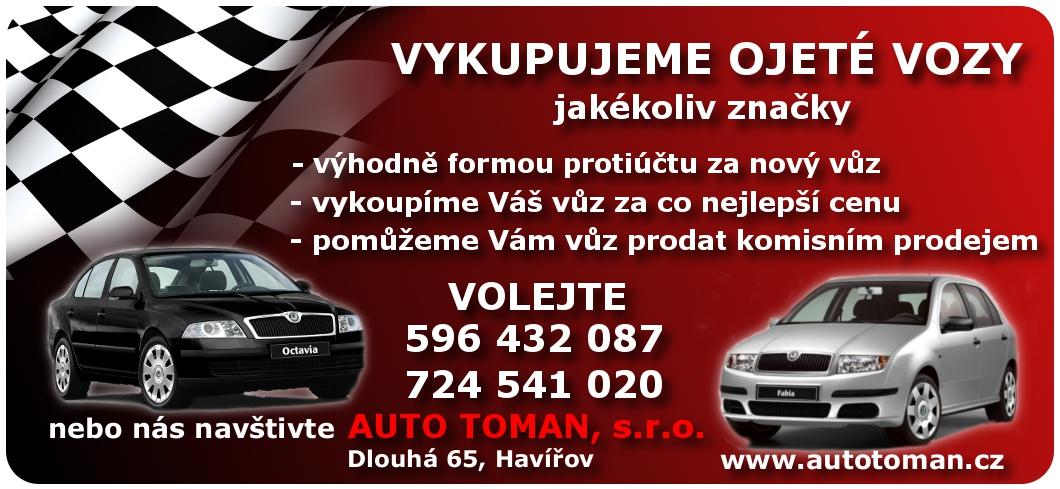 Výkup a protiúčet ojetých vozů v okolí Havířova a Karviné