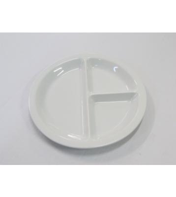 Talíř třídílný porcelán