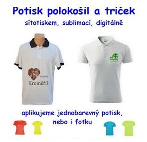 trička, polokošile a další textil s potiskem