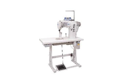 Průmyslové šicí stroje pro šití obuvi, výrobu kožené galanterie, sloupové šicí stroje