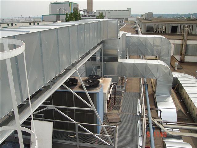 Projekty, dodávky a montáž vzduchotechnického zařízení