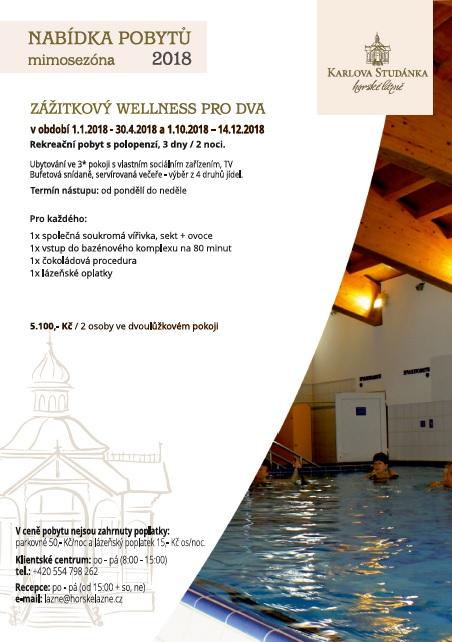 Rekreační wellness pobyt pro dva s polopenzí a vstupem do bazénového komplexu a Whirlpool