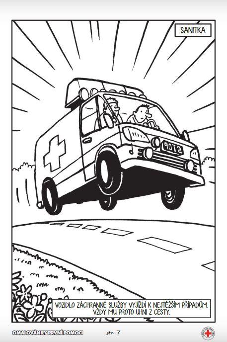Dopravní výchova pro děti – naučné omalovánky