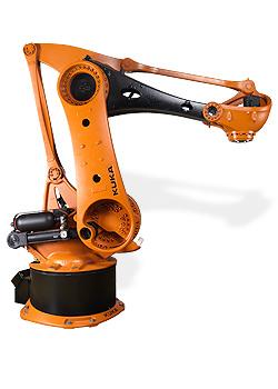 Speciální roboty KUKA pro paletizaci a práci u lisů