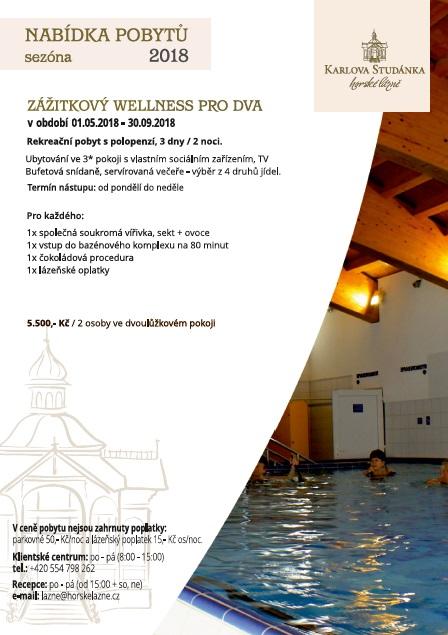Rekreacyjny pobyt wellness dla dwojga z półwyżywieniem i wejściem do kompleksu basenowego i jazucci