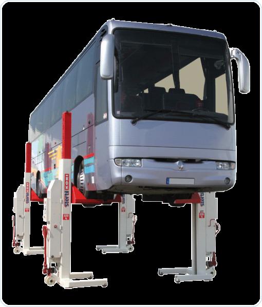 Vybavení nákladních autoservisů - STERTIL KONI nákladní zvedáky