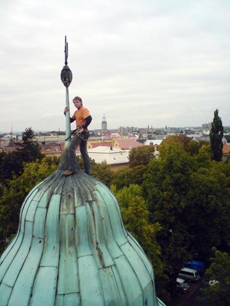 Výškové práce horolezeckou technikou Ostrava, Havířov, celá ČR