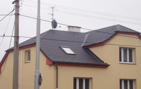 Stavba šikmé sedlové střechy Karviná