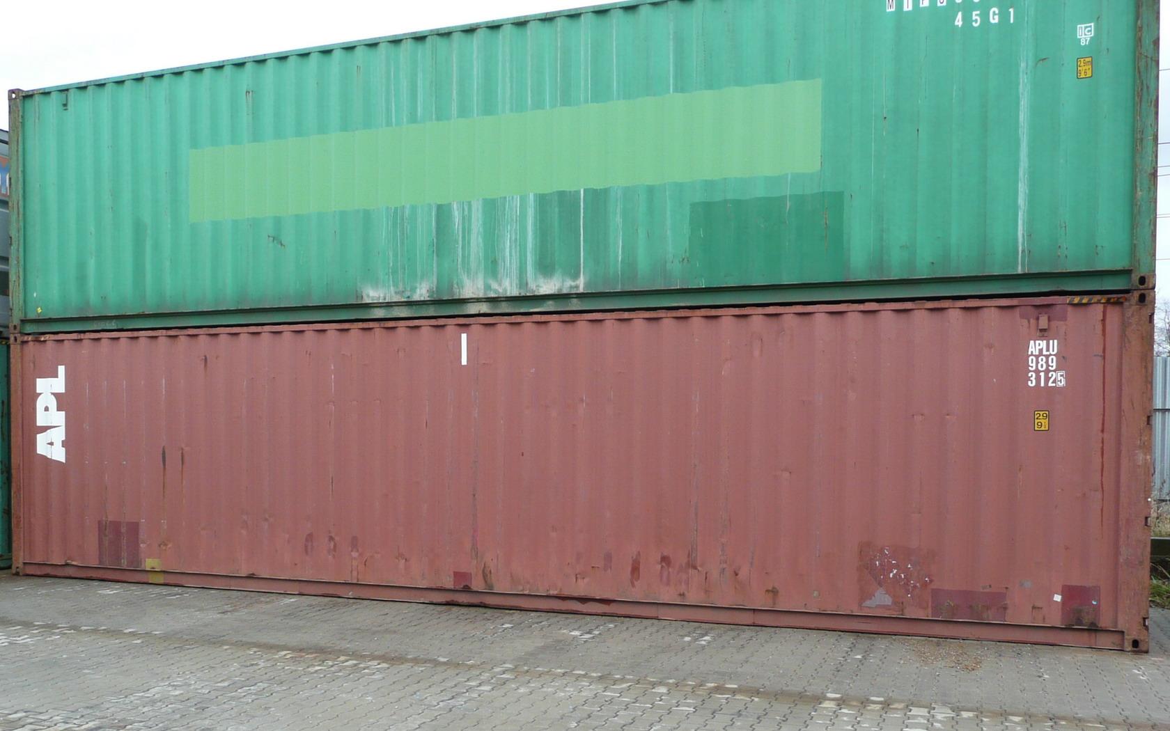 Vyřazené námořní ocelové kontejnery ihned k odběru
