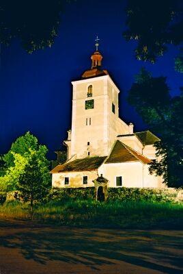 osvětlení památek či kostelů