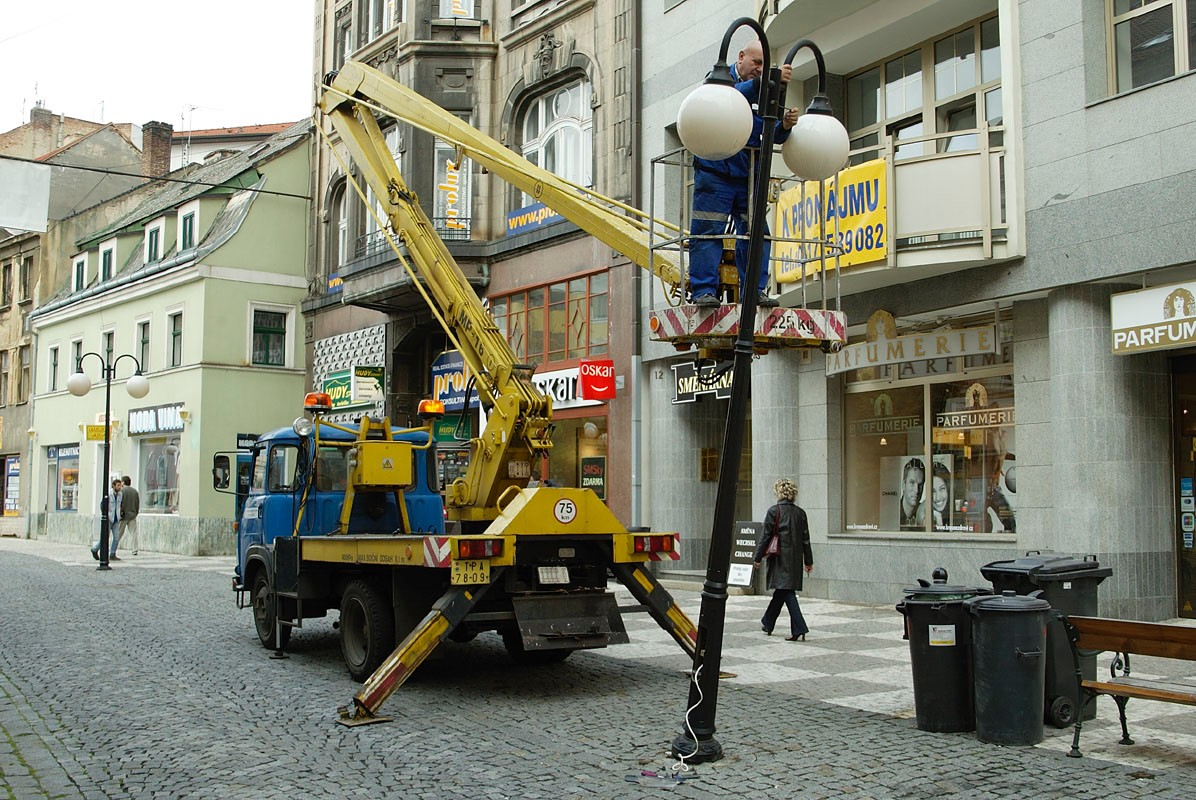 veřejné osvětlení ve městech