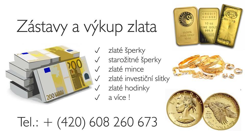 výkup, zástava zlata - Zlín